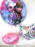 お誕生日祝「送料無料 アナと雪の女王 誕生日お祝バルーン」素敵なバルーン電報になります。