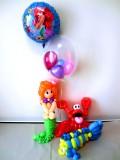 誕生日祝「リトルマーメイド アリエル バルーン&バルーンアート・バースデー」バルーン電報になります。