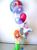誕生日祝「送料無料リトルマーメイド アリエルの誕生日祝バルーン&バルーンアート」バルーン電報になります。
