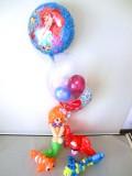 誕生日祝・卒業祝「リトルマーメイド&ニモ アリエルの愛を伝えるバルーン&バルーンアート」バルーン電報になります。