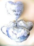 結婚祝・結婚式祝電・バルーンギフト「送料無料  ブライダルフォー・バルーン」バルーン電報になります。