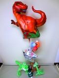 ダイナソー・パーティー・レックス「送料無料 恐竜 誕生日祝バルーン&バルーンアート」バルーン電報になります。