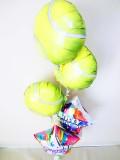テニス誕生祝 テニス部活誕生日 テニス祝電「テニスボール 誕生祝バルーン」