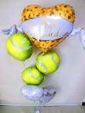 テニスバルーンギフト テニス結婚祝 テニスバルーン テニス部祝電  「DXテニス ブライダル・バルーン」