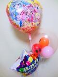 誕生祝バルーンギフト「送料無料HUGっと!プリキュア お誕生祝バルーン」 バルーン電報になります。
