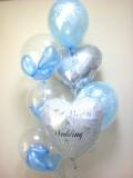 結婚祝/送料無料「ブライダル サムシングブルー・バルーン」バルーン電報になります。