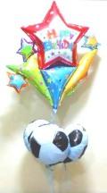 素敵なバルーン電報になります。誕生日を楽しく演出します。サッカー大好き!