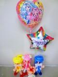 入学・卒園・七五三祝バルーンギフト 「HUGっと!プリキュア お祝バルーン&バルーンアート」 バルーン電報になります。