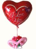 結婚祝「ラブスクリプト フラワーバルーン・ミニ」バルーンギフトにメッセージカードを添えれば素敵なバルーン電報になります。