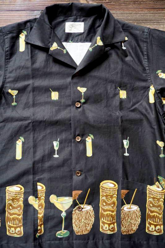 5 WHISTLE TIKI BAR S/S SHIRT BLACK