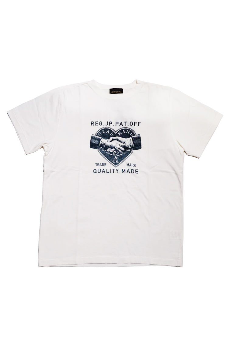BY GLAD HAND HEARTLAND - S/S T-SHIRTS WHITE×NAVY