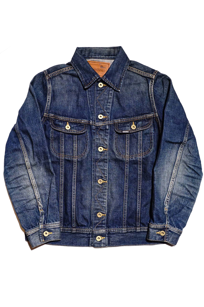 "GANGSTERVILLE THUG RIDE - DENIM JACKET INDIGO ""VINTAGE FINISH"""