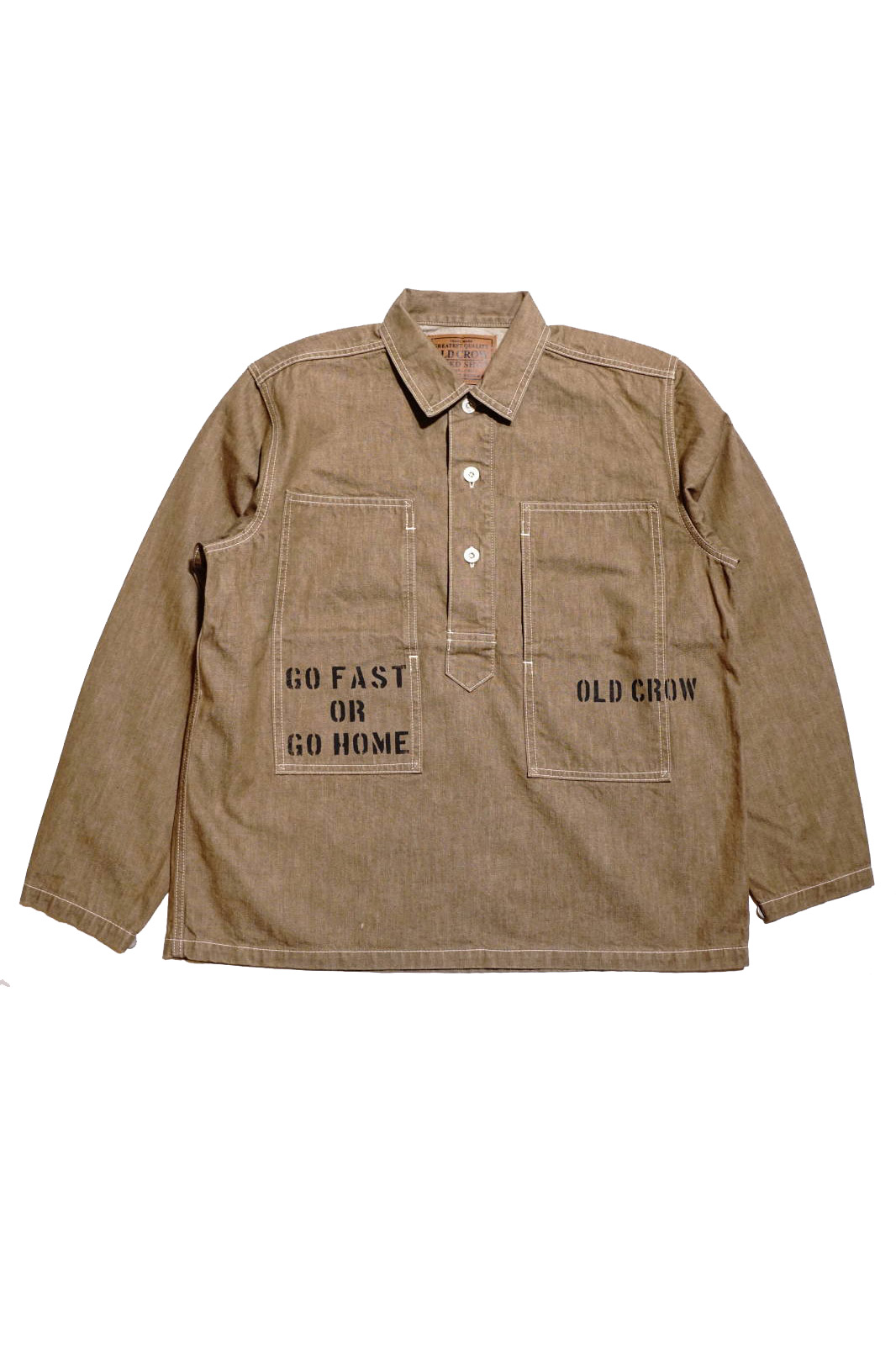 OLD CROW GLORY CROW - L/S PULLOVER SHIRTS JACKET BROWN