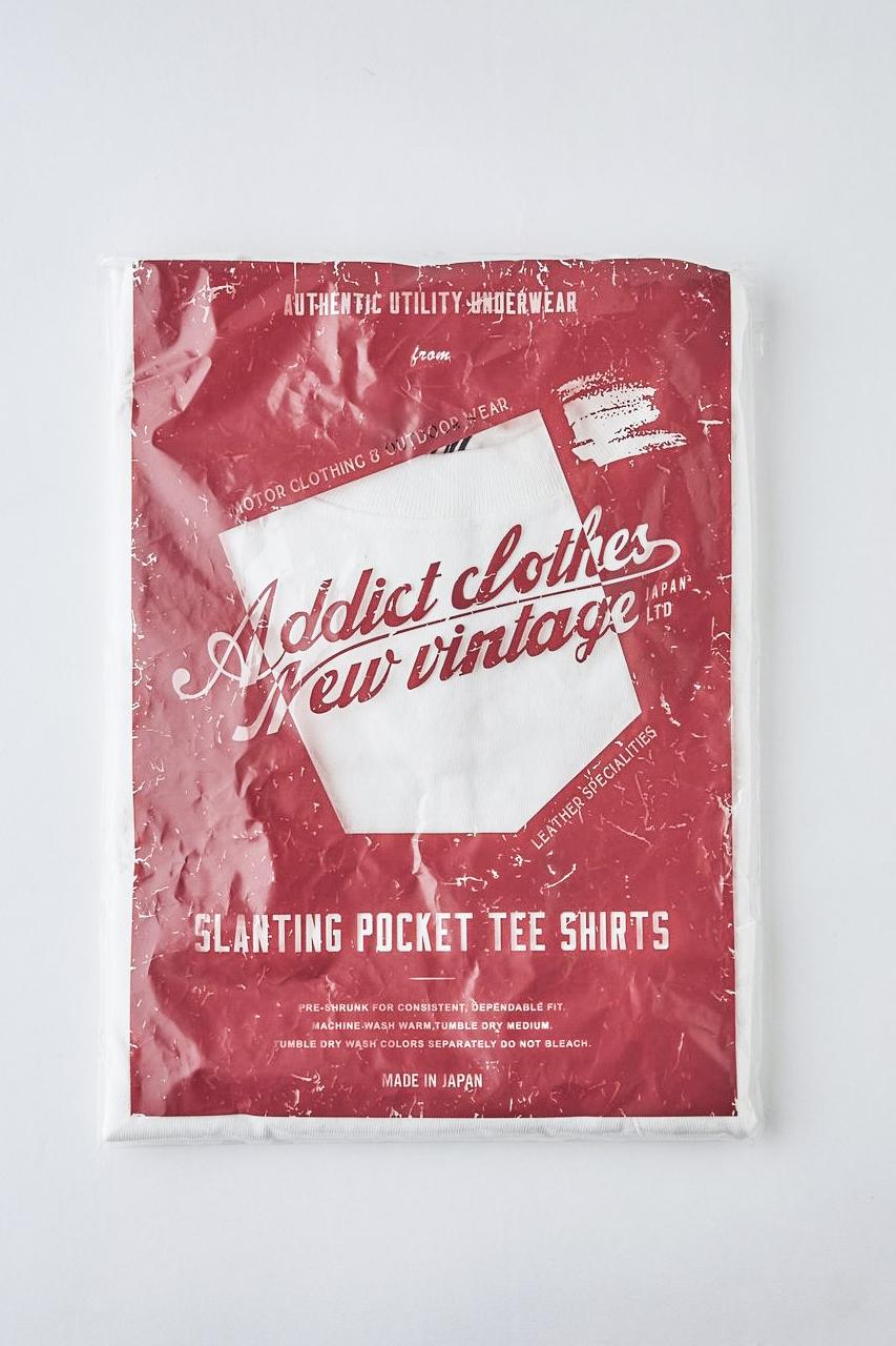ADDICT CLOTHES JAPAN ACV-CS01 SLANTING POCKET TEE WHITE