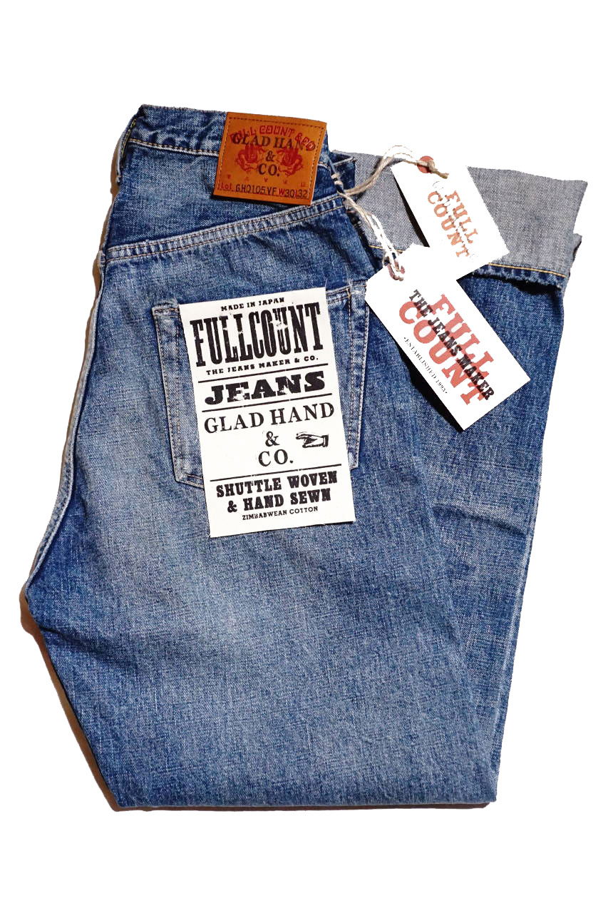 GLAD HAND × FULL COUNT 0105 LOOSE STRAIGHT VINTAGE FINISH