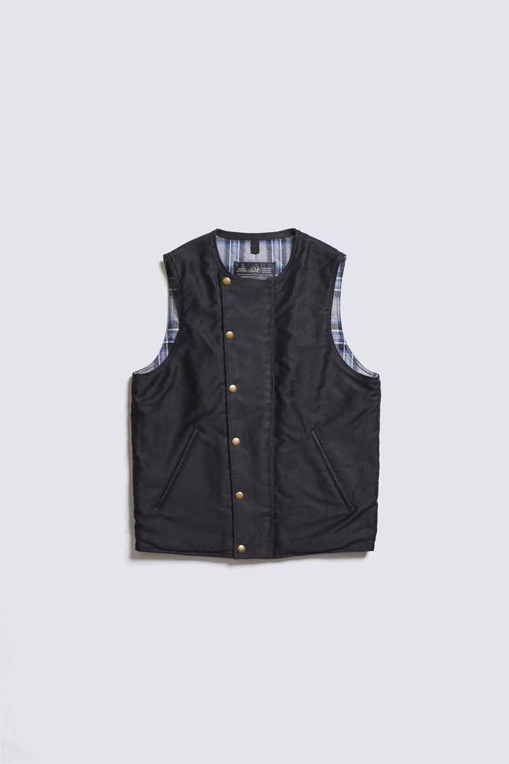 ADDICT CLOTHES ACVM  ACV-V02 ULSTER VEST BLACK