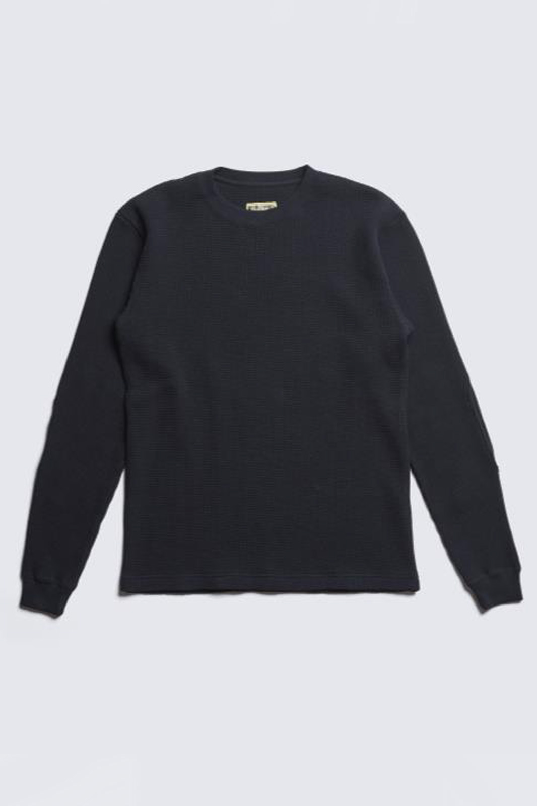 ADDICT CLOTHES JAPAN ACVM HEAVY WEIGHT WAFFLE CREW BLACK