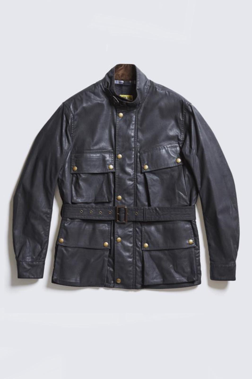 ADDICT CLOTHES JAPAN ACVM WAXED COTTON BMC JACKET BLACK