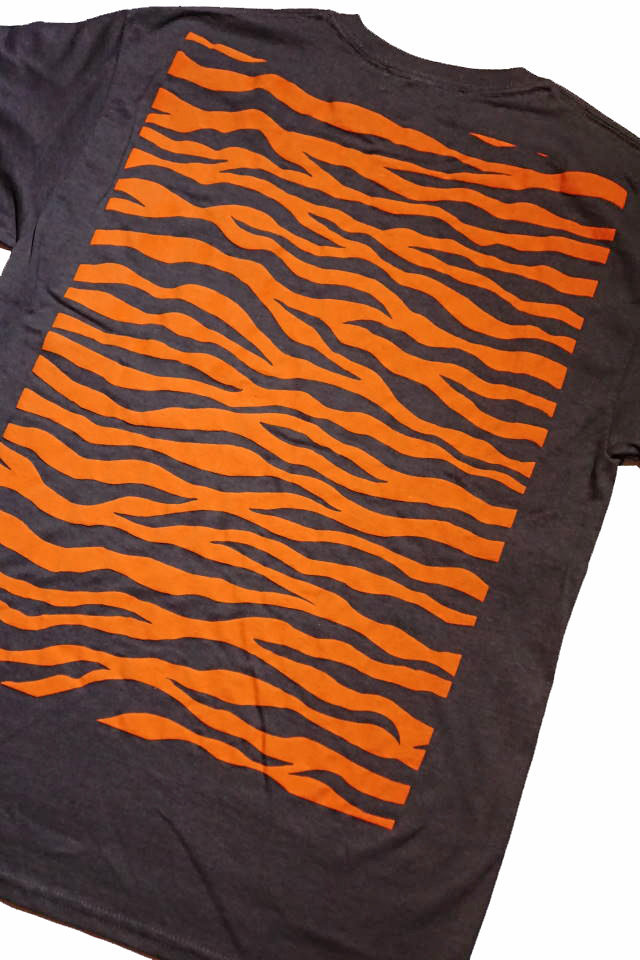 "BAA COSTUME MFG. ""ZEBRA BACK"" POCKET TEE GRY/ORG"