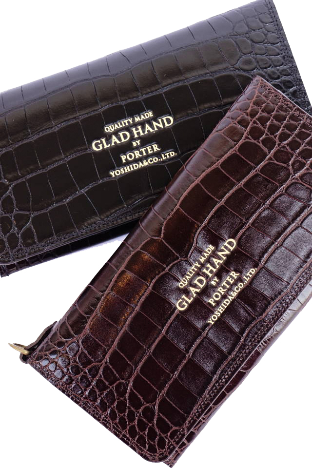 GLAD HAND×PORTER GH - BELONGINGS WALLET FAMILY CREST SP #002