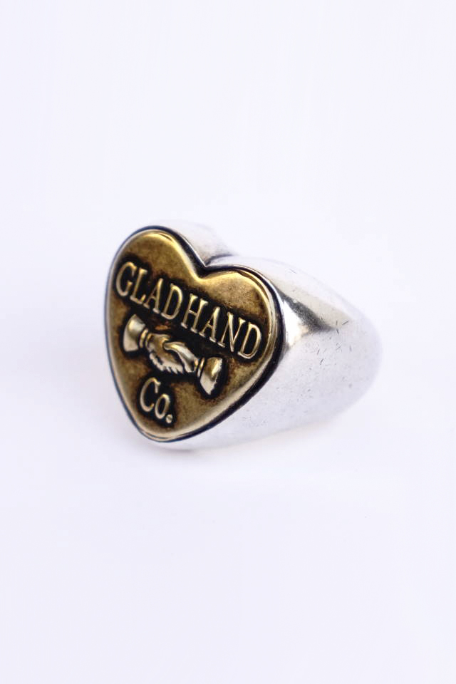 "GLAD HAND. BUTTON RING ""HEART"" LARGE MADE IN U.S.A."