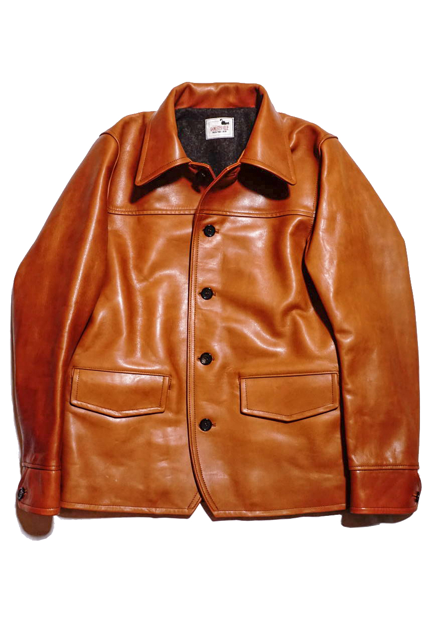 "GANGSTERVILLE 30'S CAR -  COAT ""HORSE HIDE"" BROWN"