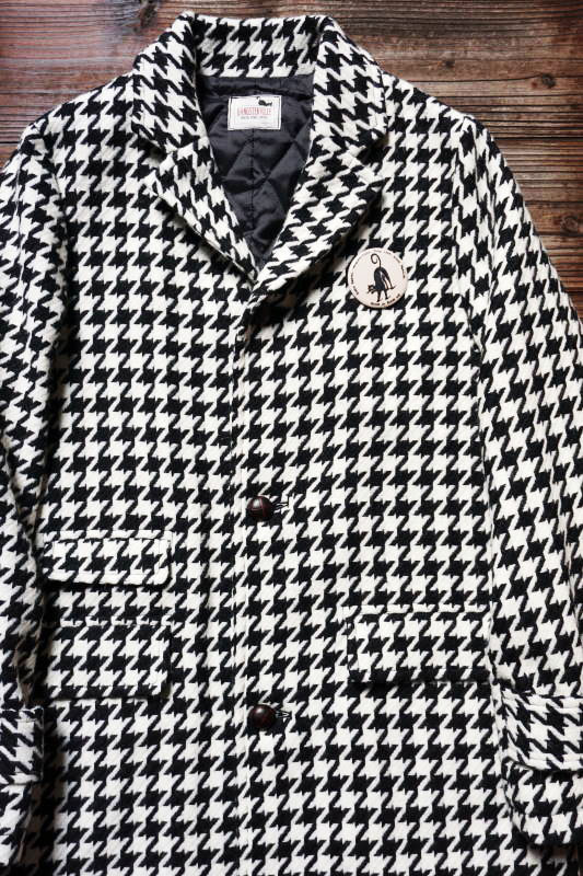 GANGSTERVILLE CHESTERFIELD - COAT HOUNDSTOOTH