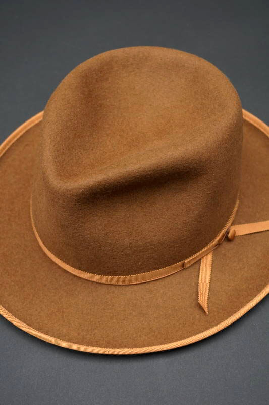 "BAD QUENTIN×STETSON RABBIT FELT HAT ""BRONCO"" CAMEL"