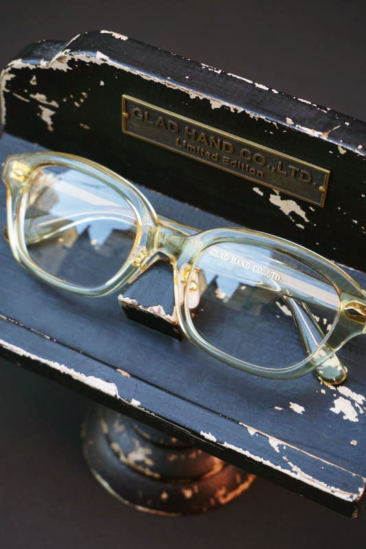 "GLAD HAMD×丹羽雅彦 J-IMMY GLASSES ORNAMENT ""GOLD"" CLEAR"