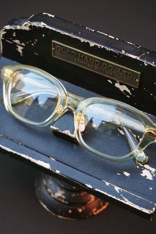 "GLAD HAMD×丹羽雅彦 J-IMMY GLASSES ORNAMENT ""GOLD"" CLEAR"