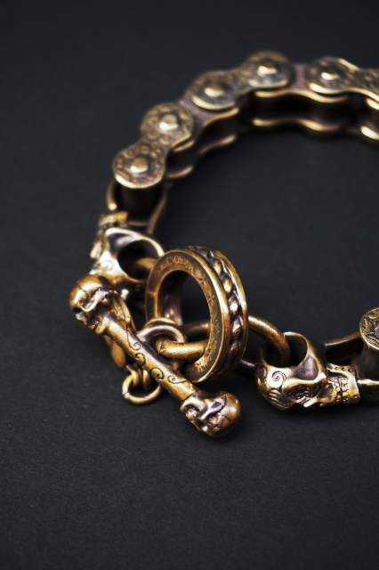 galcia M-BR-MC002B / 約 23 cm MCC-TYPE CARVING BRACELET