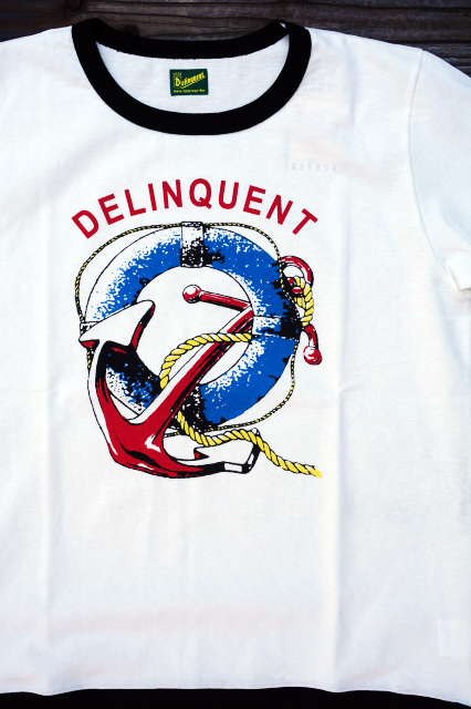 Delinquent Bros ANCHOR RIB TEE WHITE