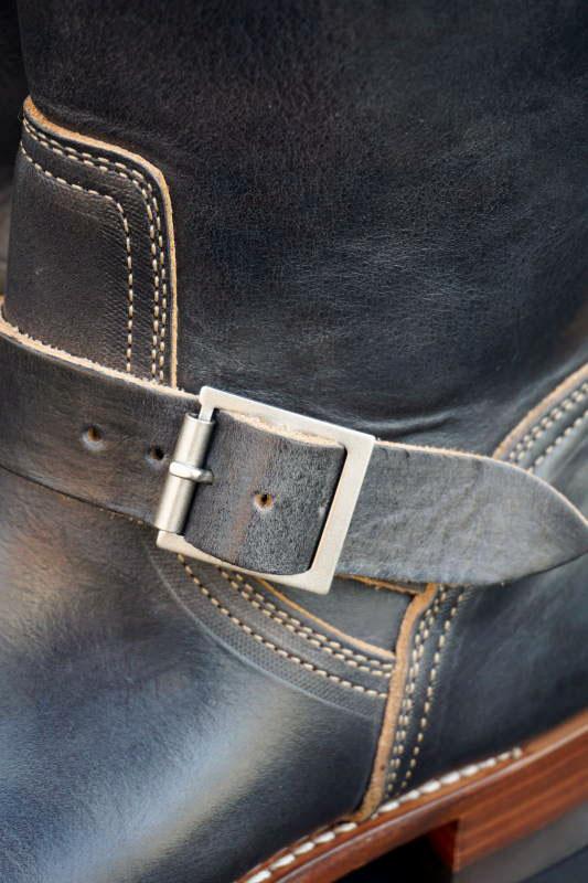 CLINCH Enginner boots Latigo Black Handdye