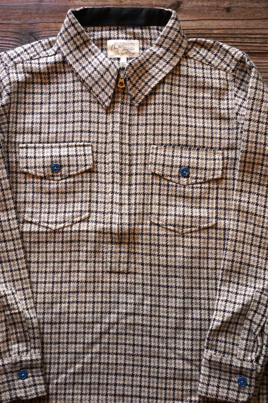 5 WHISTLE HOUND TOOTH SHIRT GRAY