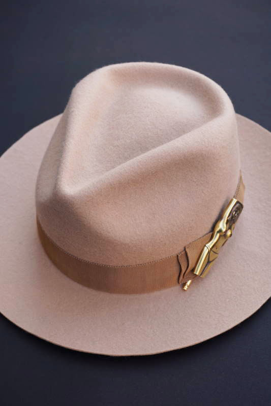 "5 WHISTLE ""NUDE""FELT HAT BEIGE"