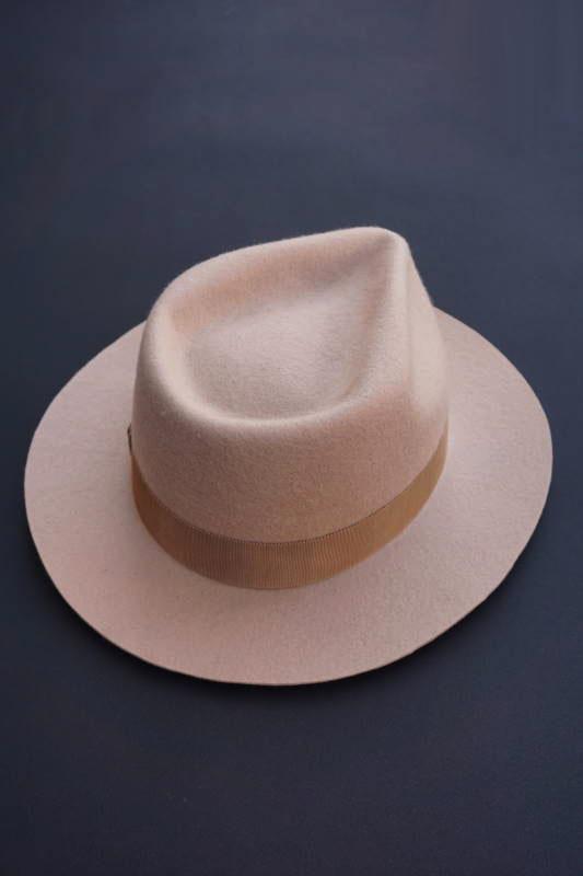 "5 WHISTLE ""NUDE""FELT HAT BEIGE"