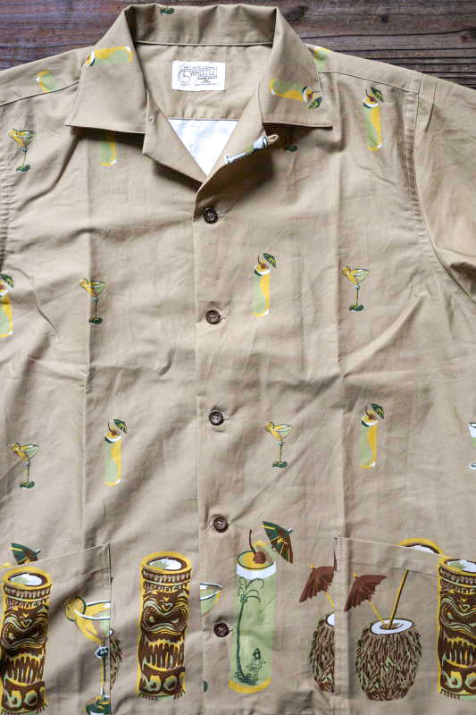 5 WHISTLE TIKI BAR S/S SHIRT BEIGE
