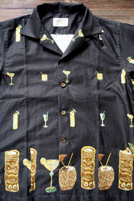 5 WHISTLE TIKI BAR S/S SHIRT BLACK