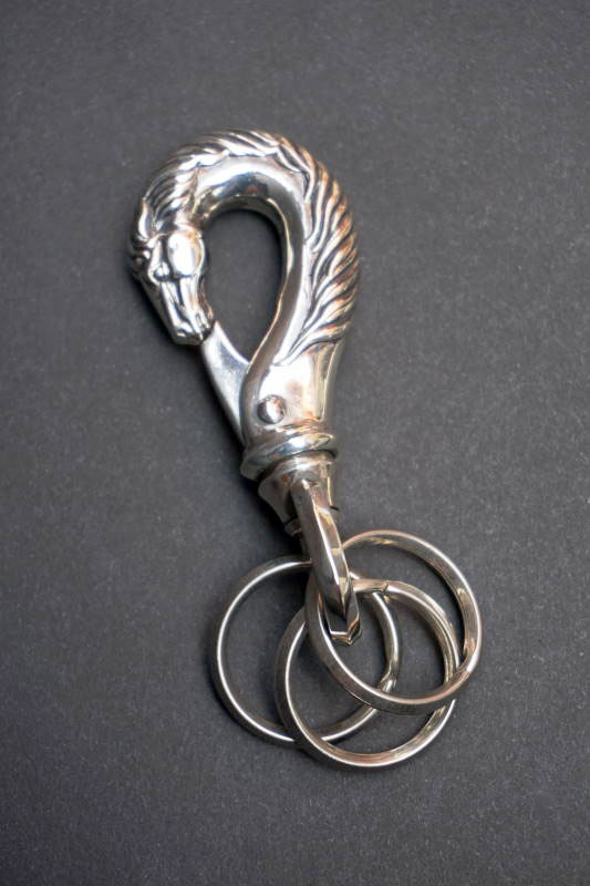 "PEANUTS & Co. horse key hook ""L"" silver"