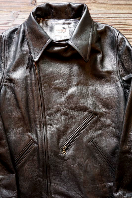 "GANGSTERVILLE MOTORCYCLE - JACKET ""COW HIDE"" BLACK"