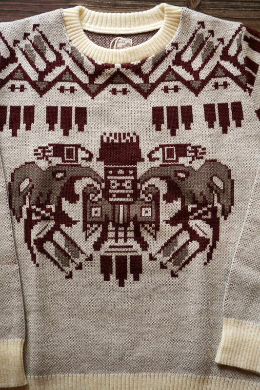 BAD QUENTIN TOTEM POLE JACQUARD KNIT WINE