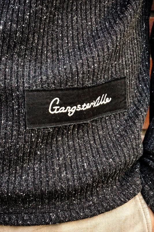 GANGSTERVILLE THUG - TURTLE NECK SWEATER BLACK