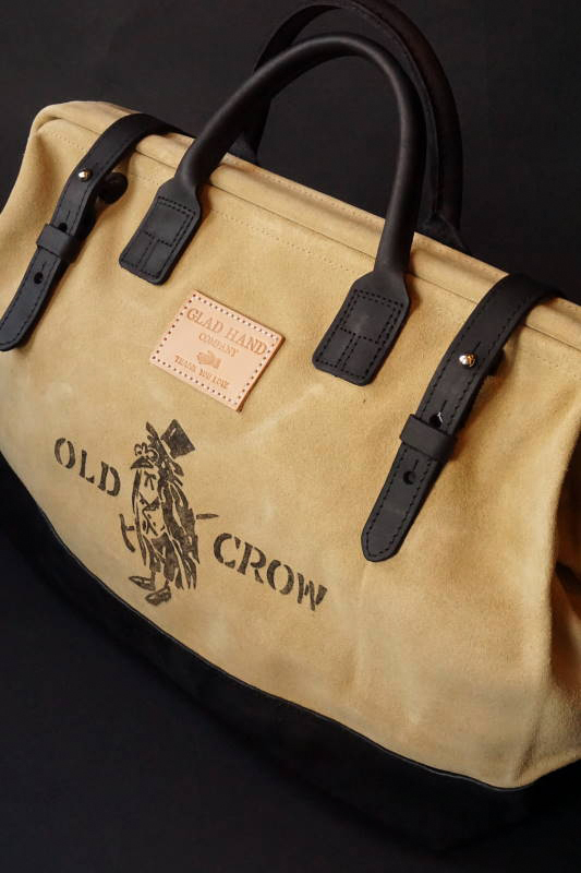 OLD CROW OLD MASON - BAG LEATHER BEG×BLK