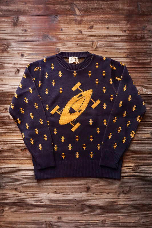 OLD CROW BELLY TANK - SWEATER NAVY