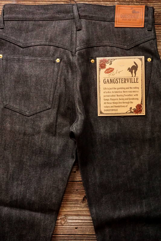 GANGSTERVILLE THUG - DENIM ※BLACK RIGID