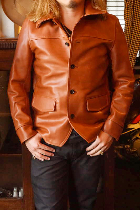 "GANGSTERVILLE 30'S CAR COAT ""HORSE HIDE"" BROWN"