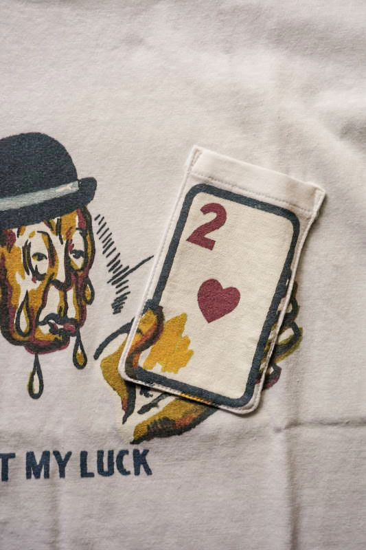 """5 WHISTLE """"JUST MY LUCK"""" Gimmick Tee WHITE"""