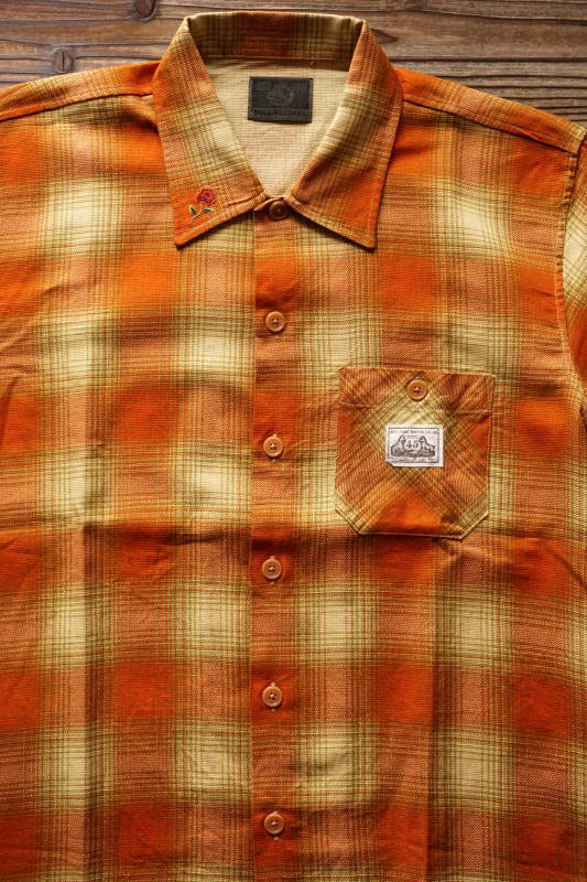 B.S.M.G. CHECK - L/S SHIRTS ORANGE