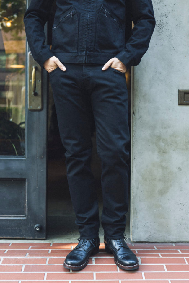 ADDICT CLOTHES JAPAN × MINEDENIM ACV-P02MD TIGHT TAPERED STRETCH DENIM BLACK