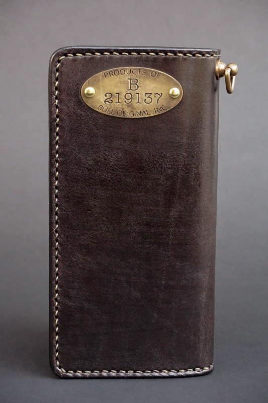 B.S.M.G. B.O. Hand Die Wallet Plate Brass BLACK